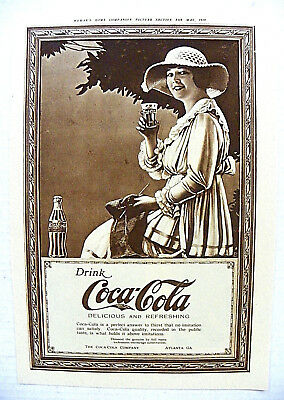 """1919, May Woman's Home Companion """"drink Coca-Cola ~ Delicious And Refreshing"""" Ad"""