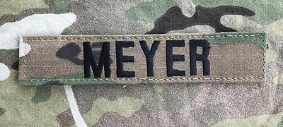 US ARMY Multicam OCP Scorpion Uniform Name Tape Klett patch camouflage MEYER