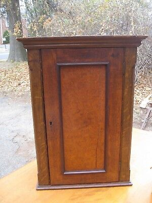 Antique Hanging Wall Cabinet Walnut Cupboard Bergen County NJ Rockland County NY