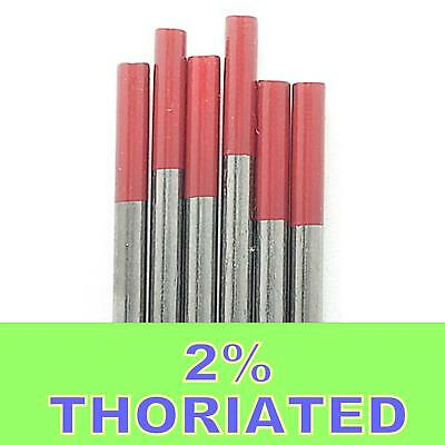 5electrodes 1.6mm X  **175mm**  2% Thoriated Tungsten TIG Electrode Red Tip WT20