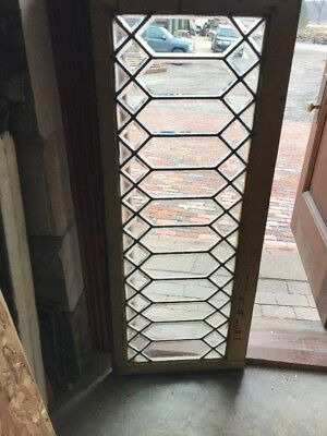 Sg 1728 Antique All Beveled Glass Transom Window