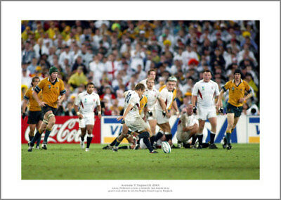 Jonny Wilkinson Drop Goal England 2003 Rugby World Cup Final Photo (917)