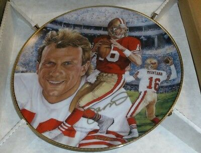 "Gartlan USA JOE MONTANA AUTO AUTOGRAPHED 10 1/4"" PLATE 49ers artists proof"