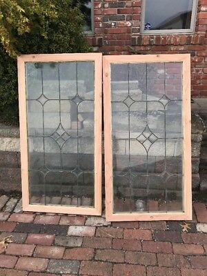 Sg 1730 2 Available Price Each Antique 4 Point Bevel Landing Window 28 x 53.75
