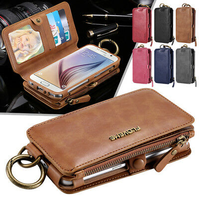 Mens Womens Quality Wallet Purse Credit Card Zip Holder Purse  Phone Case Cover