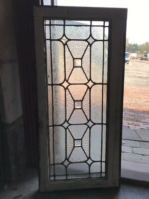 SG 1731 antique textured and beveled transom window 3-D 17.25 x 36