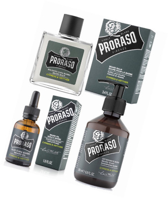 Proraso - Pack Traitement Barbe: Huile, Shampoing à Barbe, Baume à Barbe adoucis