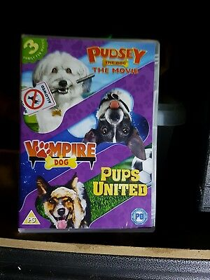 Dogs Triple (Pups United/Vampire Dog/Pudsey The Dog Movie) [DVD] - New Sealed