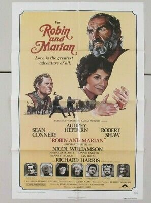 Robin & Marian Original 27X41 Folded Movie Poster Audrey Hepburn Sean Connery
