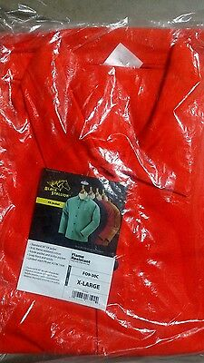 "Revco Black Stallion FO9-30C 30"" 9oz. Orange FR Cotton Welding Jacket, X-Large"