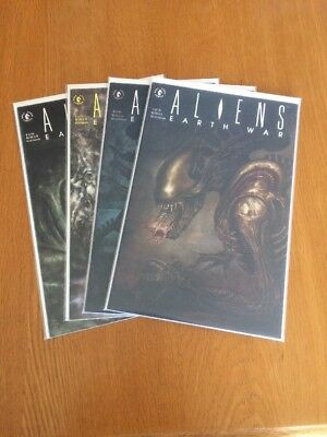 Aliens: Earth War #1-4 Complete Dark Horse Comics