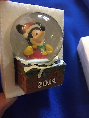 Disney 2014 Collectible Mini Snow Globe Mickey Mouse JC Penny Promo NOKID HUNGRY