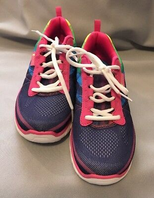 New Girls' Size 4 S Sport By Skechers™ Athletic Rainbow Pink Purple Shoes