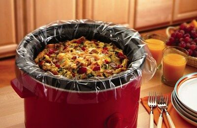 Slow Cooker Liners Disposable Cooking Bags for Round & Oval Cookers