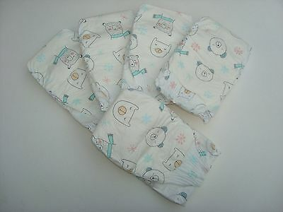 The Honest Company Sleeping Bear Print Diapers, Size 1 - 8-14 Pounds, Set Of 5