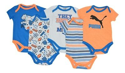 5er Set Puma Bodys, Kurzarmbody, Body, Blau Orange