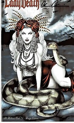 Lady Death All Hallows BRUJA edition 80/150 signed Brian Pulido COA FREE UK POST