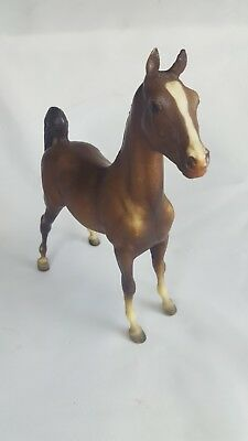 """Breyers Arabian foal white muzzle socks Sable Brown horse 9 x 7"""" philly pony"""