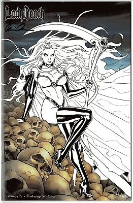 Lady Death Killers 1 COLORING edition b 73/160 sign Brian Pulido FREE UK POST NM