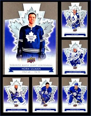 2017-18 Toronto Maple Leafs Centennial Die Cut *** PICK YOUR CARD *** From SET