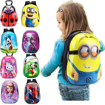 Cute Kids Light Weight Hard Case Egg bag Backpack Boy Girl School Bags Toy Gift