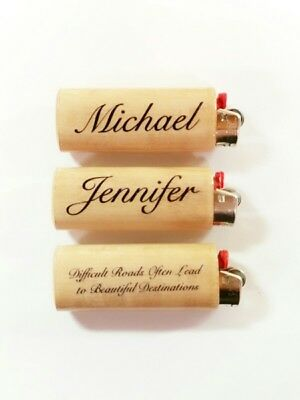 Personalized Custom Name Saying BIC Lighter Case Holder Sleeve Cover Inscribed