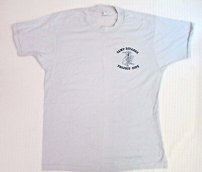 Vintage BSA Boy Scouts Camp Royaneh Project Cope Large T-Shirt - USA Circa 1980