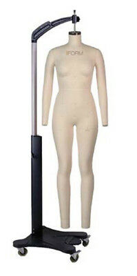 Alva Full Body Dress Form Size 4 With Arms, Body Cover, Stand
