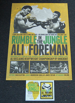 Muhammad Ali V George Foreman Rumble In The Jungle Boxing Official Print Coa