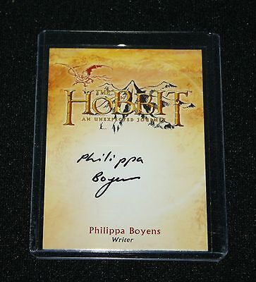The Hobbit a Unexpected Journey CA-2 ULTRA RARE Philippa Boyens Autograph Card
