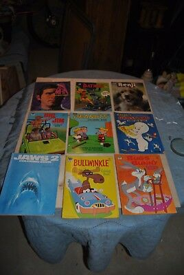 Vintage Lot of 9 Coloring Books from the 1970s. Big Jim-Jaws- MORE