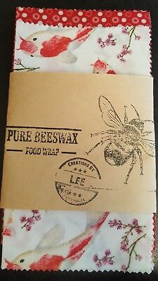 beeswax food wraps x2 piece packet