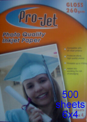 500 PROJET 6x4 Gloss Glossy 260 gsm Photo Cards