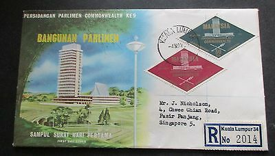 Malaysia ..1963  Commonwealth Parliamentary   Fdc....with Information Booklet