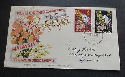 Malaysia ..1963  Orchids.. First Day Cover....with Information Booklet