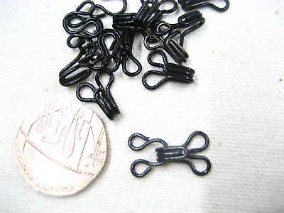 20sets black Hook and Eye Fasteners skirt dress Bra Sew On fasteners collar hook