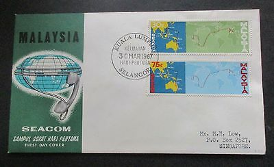 Malaysia ..1967  Seacom....registered..with Information Booklet