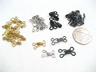 20sets Hook and Eye Fasteners skirt dress Bra Sew On dress fasteners collar hook