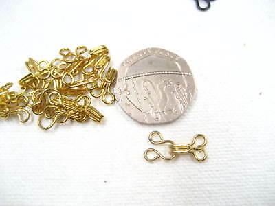 20sets gold Hook and Eye Fasteners skirt dress Bra Sew On collar hook