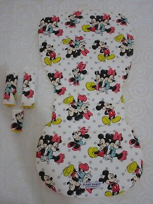 Bugaboo bee 3 & bee plus pram liner set-Mickey,Minnie mouse-Handmade