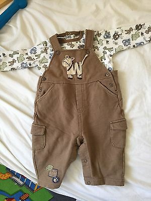 baby boy top and trousers overall 3-6 months