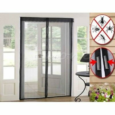 Door Mesh Magic Curtain Magnetic Snap Fly Bug Insect Mosquito Screen Net Guard H
