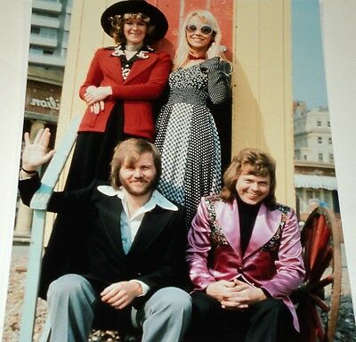 Abba /  Lovely  8 X 10  Color  Group  Photo