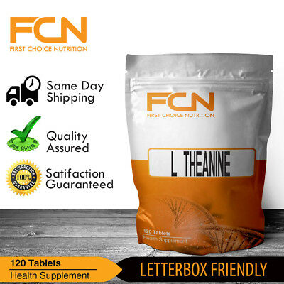 L-Theanine 100mg x 120 Tablets | Extra Strength | Amino Acid |  60 - 120 Serves