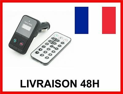 Main Libre Bluetooth Voiture Mp3 Allume Cigare Usb Carte Sd  Transmetteur Fm