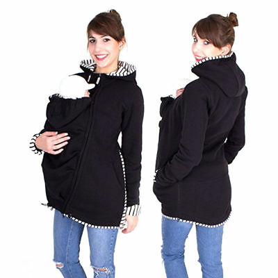 Women Autumn Winter Sweatshirt Baby Wear Carrier Coat Kangaroo Hoodie Maternity