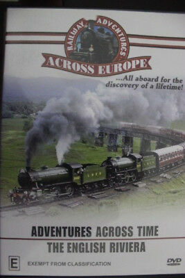 Railway Adventures Across Europe & Time The English Riviera Rare Deleted Dvd Oop