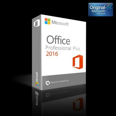Microsoft Office 2016 Pro Professional Plus EN ESPAÑOL PRODUCT KEY 32-64 bits
