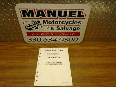 Yamaha 2008 Supplementary Service Manual Grizzly 450 Yfm45Fgx