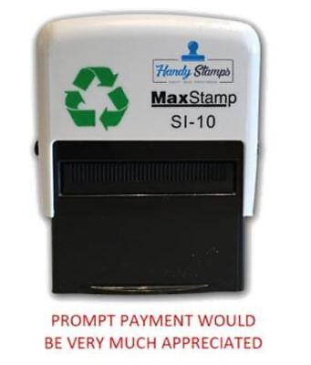 Prompt Payment Appreciated 36 x 13mm Self Inking Stamp (MAX1PROMPT)